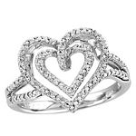 0.05 Ct.tw Diamond Heart Ring in Sterling Silver