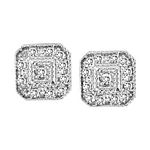 0.06 Ct.tw. Diamond Fashion Earrings in Sterling Silver