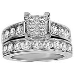 0.32 Ct.tw. Composite Diamond Bridal Invisible Ring in 10K White Gold