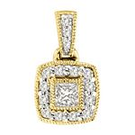 0.23 Ct.tw. Composite Diamond Fashion Pendant in 14K Yellow Gold