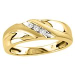 0.07 Ct.tw. Diamond Gents Ring in 10K Yellow Gold