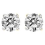 0.25 Ct.tw. Diamond Studs Solitaire Earrings in 14K Yellow Gold