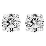 0.32Ct.tw. Diamond Studs Solitaire Earrings in 14K White Gold