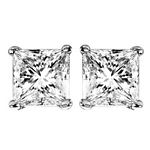 0.52Ct.tw. Elite Promo Stud Solitaire Earrings in 14K White Gold