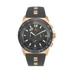 NERIO - Men%27s Giorgio Milano Stainless steel IP rose gold with IP black tachymeter bezel