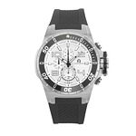 Men%27s Giorgio Milano Stainless Steel Unidirectional Rotating Bezel Watch with Silver Dial & Date