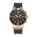 LEONARDO - Men%27s Giorgio Milano Stainless Steel Watch with Silicon Strap