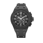 IL MASTRO - Men%27s Giorgio Milano Black Rubber with Stainless Steel inserts