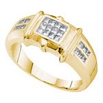 0.53 Ct.tw. Diamond Invisible Men%27s Band in 14K Yellow Gold