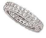 All Pavé Cz Band Ring in Sterling Silver