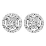 0.52 Ct.tw. Composite Diamond Fashion Earrings in 14K White Gold