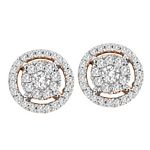 0.52 Ct.tw. Composite Diamond Fashion Earrings in 14K Yellow Gold