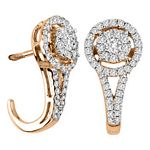 0.58 Ct.tw. Diamond Fashion Earrings in 14K Rose Gold